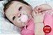 Bebê Reborn Menina Detalhes Reais Bebê Lindíssima Com Lindo Enxoval E Acessórios Promoção - Imagem 1