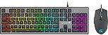Kit Teclado + Mouse Gamer 6400dpi Rgb Rainbow Ranger Grafite Fortrek - Imagem 1