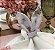 Porta guardanapo orelha floral bordô - Imagem 1