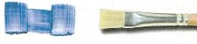 Pincel 856 Chato, Cerda Branca, Cabo Curto (Pinctore/TIGRE) - Imagem 3