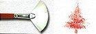 Pincel 413 Leque (Fan) Sintético Branco, Cabo Extra Longo (Pinctore/TIGRE) - Imagem 4