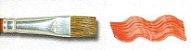 Pincel 181 Chato Pelo de Orelha de Boi (Pinctore/TIGRE) - Imagem 5