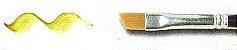Pincel 487 Chanfrado Sintético Dourado Acetinado, Cabo Longo (Rodin/TIGRE) - Imagem 4
