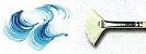 Pincel 819 Leque Cerda Branca (Pinctore/TIGRE) - Imagem 3