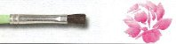 Pincel 80 Chato Quadrado Pelo de Ponei Cabo Curto (Pinctore/TIGRE) - Imagem 5