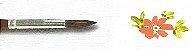 Pincel 165 Pelo de Orelha de Boi Redondo Curto (TIGRE) - Imagem 3
