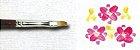 Pincel 334 de Marta Red Sable Formato Filbert (Língua de Gato) Cabo Extra Longo (Pinctore/TIGRE) - Imagem 3