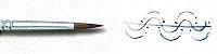 Pincel 432 Redondo Curto Sintético Marrom, Cabo Longo (Pinctore/TIGRE) - Imagem 3