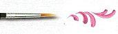 Pincel 482 Redondo Pontiagudo Sintético Acetinado, Cabo Longo (Pinctore/TIGRE) - Imagem 3
