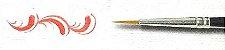 Pincel 485 Redondo Sintético Acetinado, Cabo Curto (Rodin/TIGRE) - Imagem 3