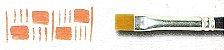 Pincel 486 Chato Sintético Acetinado, Cabo Curto (Rodin/TIGRE) - Imagem 5