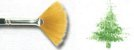 Pincel 489 Leque Sintético Acetinado, Cabo Longo (Rodin/TIGRE) - Imagem 3