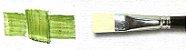 Pincel 820 Chato, Cerda Branca Alvejada, Cabo Curto (EQArte Excellence) - Imagem 1