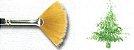 Pincel 913 Leque Dourado Acetinado Sable Touch, Cabo longo (Pinctore/TIGRE) - Imagem 3