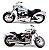 Miniatura Harley Davidson FXDFSE Cvo Fat Bob 2009 Maisto 1:18 - Imagem 2