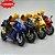 Miniatura Yamaha YZF-R1 Amarelo Caipo 1:18 + Piloto  - Imagem 4