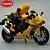 Miniatura Yamaha YZF-R1 Amarelo Caipo 1:18 + Piloto  - Imagem 2