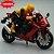 Miniatura Yamaha YZF-R1 Vermelho Caipo 1:18 + Piloto  - Imagem 2