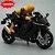 Miniatura Yamaha YZF-R1 Preto Caipo 1:18 + Piloto  - Imagem 2