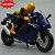 Miniatura Yamaha YZF-R1 Azul Caipo 1:18 + Piloto  - Imagem 3