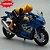 Miniatura Suzuki GSX-R 1000 2017 Azul Caipo 1:18 + Piloto  - Imagem 3