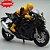 Miniatura Suzuki GSX-R 1000 2017 Preto Caipo 1:18 + Piloto  - Imagem 2
