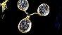 Conjunto Colar Gargantilha e Brincos Quartzo ou Geodo Drusa Titânio Oval - Imagem 6
