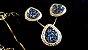 Conjunto Cristal de Geodo de Rocha de Quartzo Titãnio Gota contorno Zircônias - Imagem 3