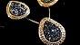 Conjunto Cristal de Geodo de Rocha de Quartzo Titãnio Gota contorno Zircônias - Imagem 4