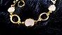 Pulseira  Cristal de Geodo de Rocha de Quartzo Natural P - Imagem 3