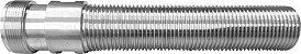 Shank/rosca 100mm inox p/ torneiras de chope tipo belga - Imagem 1