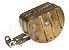 Bóia do carburador Holley quadrijet em latão original Hygrade (nova, sem uso) - Imagem 1