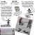Sauna Vapor Residencial Bivolt Rejuvenator Relax Cabine c/Suporte Inteligente Dobrável p/Box de Banheiros - Imagem 9