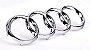 Emblema Audi Anéis Grade - Dianteira - A3 A6 - Imagem 1