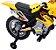 Mini Moto Cross Elétrica 6V Infantil Triciclo Som Luz Amarelo Bel Fix 925900 - Imagem 4