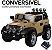 Mini Veículo Jipe 2x1 Rali Controle Remoto 12v Caqui Som Luzes Bel Fix 927300 - Imagem 3