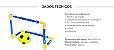 Jogo Futebol Beach Soccer Kit 2 Traves Rede Bola Bomba 46x32cm Bel 488100 - Imagem 6