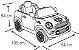 Mini Cooper Veículo Elétrico 2x1 Controle Remoto Preto Kiddo 7003PR - Imagem 8