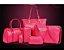 Kit de bolsa fashio -6 peças -confira na descrição completa do produto - Imagem 1