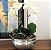 Cachepot em alumínio P com orquideas - Imagem 1