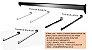 20 RTs  Reto com 1 esfera  - Acoplar em Barra de Cremalheira  ou Barra Parede -  Branco , Cromado e Preto- Tempo de Fabricação de 5 a 10 dias úteis - Clique na foto para ver detalhes - Imagem 2