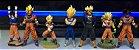 Banpresto Dragon Ball Z Set com 07 Figures Goku Vegeta Trunks SSJ  Loose - Imagem 1