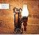 Arandela Rústica Vintage Madeira Esculpida Metal Envelhecido 24x37 Medieval Madelustre E-27 61026 Chácaras e Ranchos - Imagem 2