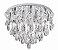 Plafon Diamond Crystal Lapidado Metal Cromado 65x60cm Luciin 12x Lâmpada G9 Halopin Bivolt SI002 Salas e Quartos - Imagem 1