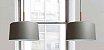 Pendente Bilboque Bacia Redondo Metal Cinza 38,5x50cm Newline Lâmpada E27 25W Bivolt 113FFCO Salas e Cozinhas - Imagem 2