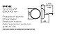 Pendente Igloo Basin Violeta Alumínio Acrílico 43x58cm Newline 3x E27 25W Bivolt SNT582ND Balcões e Mesas - Imagem 2