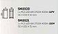 Arandela Portara Aberta Quadrada Alumínio Branco 10x5cm Newline 1x PCI LED 6W Bivolt SN10120BTCO Entradas e Salas - Imagem 2