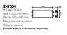Luminária Slim Embutida Retangular Metal Acrílico 68,8x18,5cm Newline 2x G13 T8 18W IN9008BT Salas e Entradas - Imagem 2