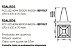 Pendente New Chess LED Aberto Acrílico Quadrado 7x47cm Newline PCI LED 40W Bivolt 516LEDBT Cozinhas e Salas - Imagem 3
