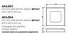 Plafon New Massu LED Aberto Sobrepor Acrílico 8,3x47cm Newline PCI LED 40W Bivolt 482LEDCO Salas e Quartos - Imagem 2